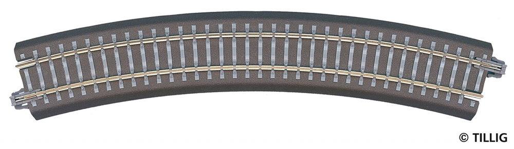 Tillig 86304 TT Gleisbettung Modellgleis dunkel gebogenes Gleis R21-R24 30° NEU!